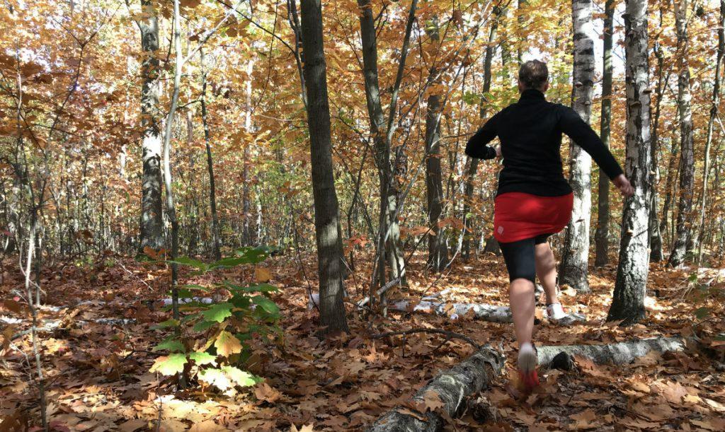 Spódnica do biegania na jesień - Polka Sport Irena Czerwona Capri