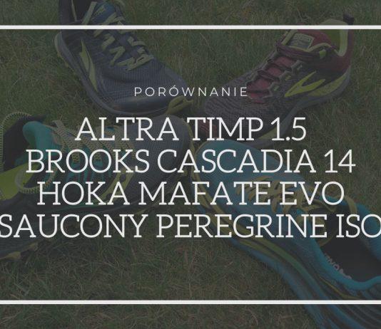 Porównanie butów w teren marek Altra, Brooks, Hoka i Saucony