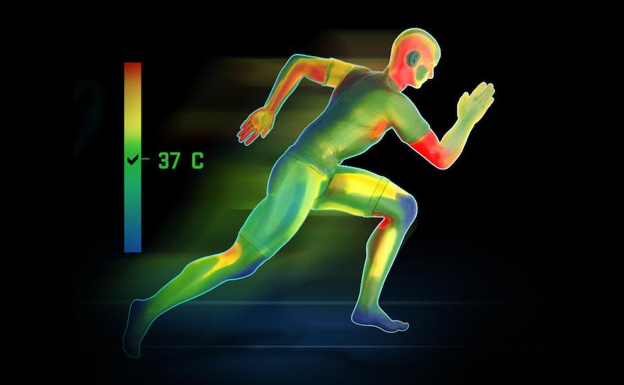 Zadaniem odzieży SMMASH jest pomoc w termoregulacji organizmu w czasie wysiłku.