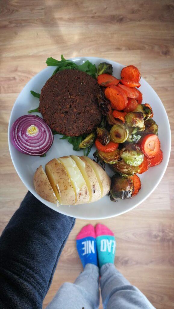 Obiad weganina.