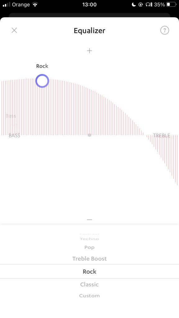 Ustawienia profilu dźwiękowego.