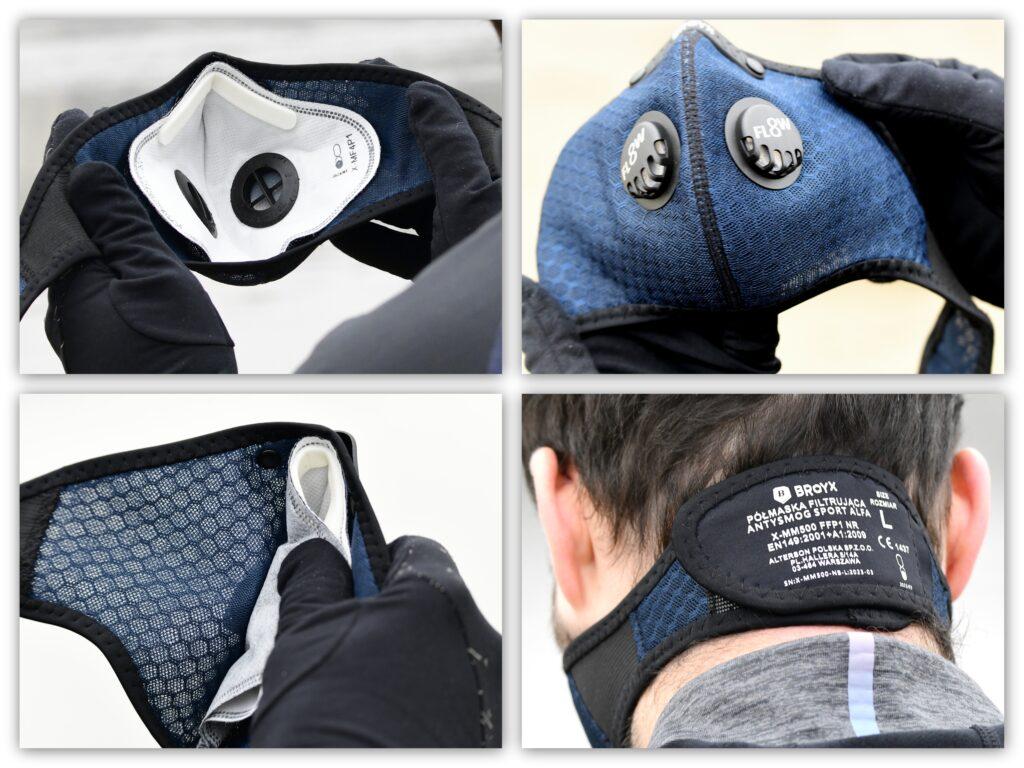Delikatna konstrukcja i dobre trzymanie to atuty maski Broyx Alfa