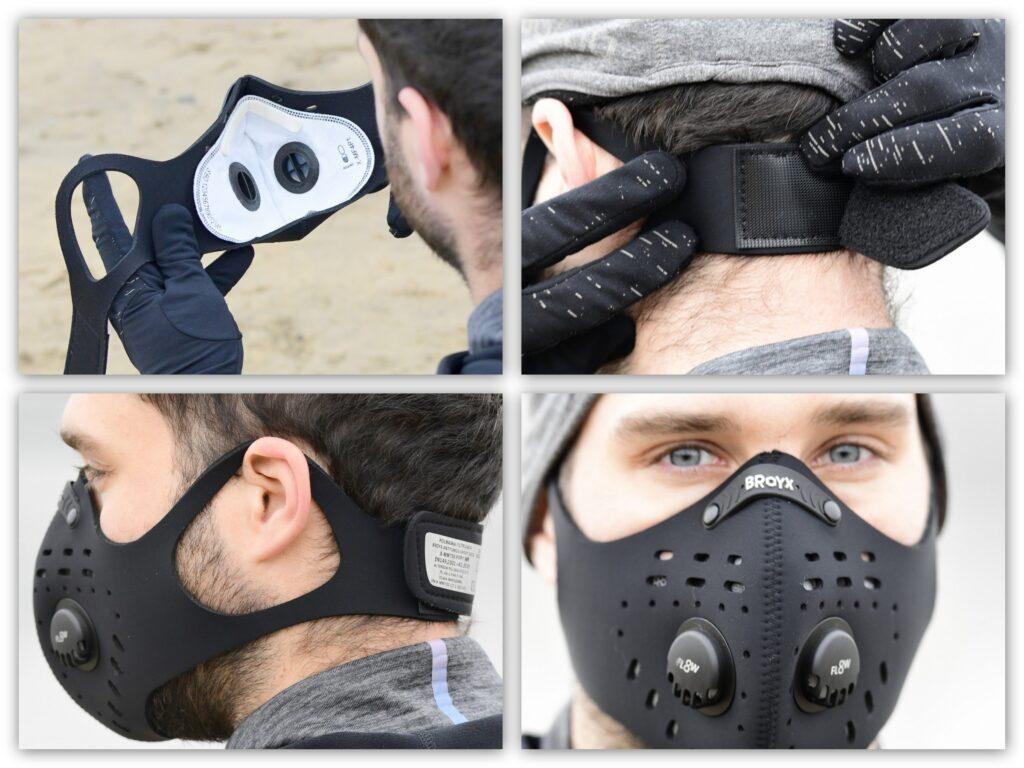 System mocujący wsparty zausznikami oraz przestrzeń w komorze ustnej to plusy maski Broyx Delta