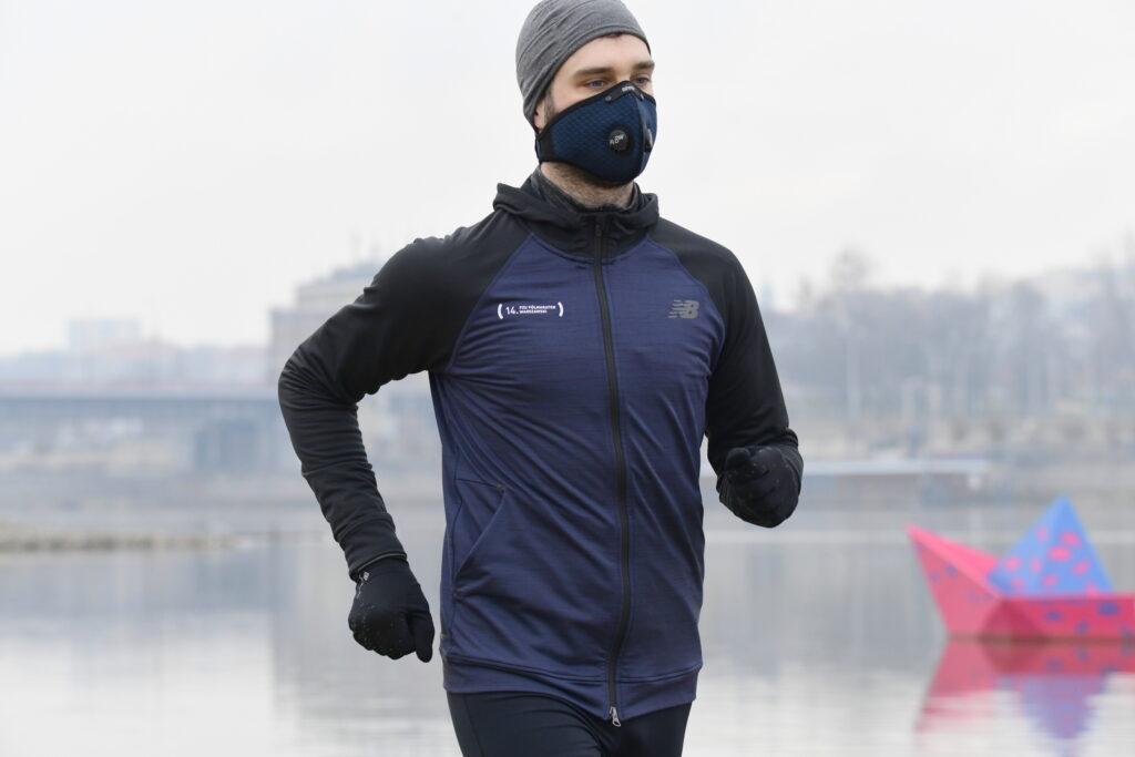 Maska antysmogowa Broyx Alfa, wyposażona w wymienny filtr klasy FFP1