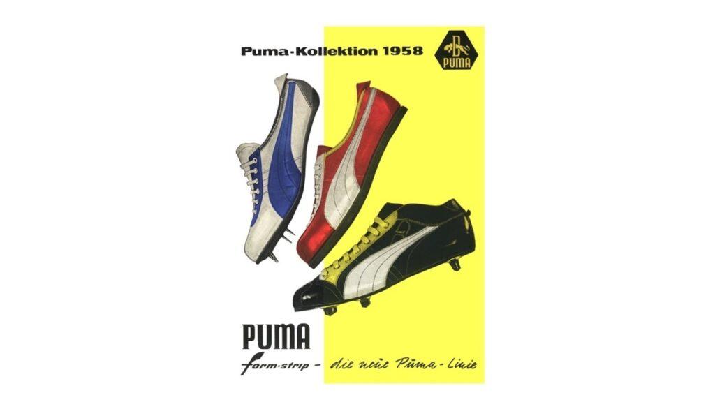 Plakat promujący najnowsze modele PUMY. 1958 rok. Źr. www.puma.com.