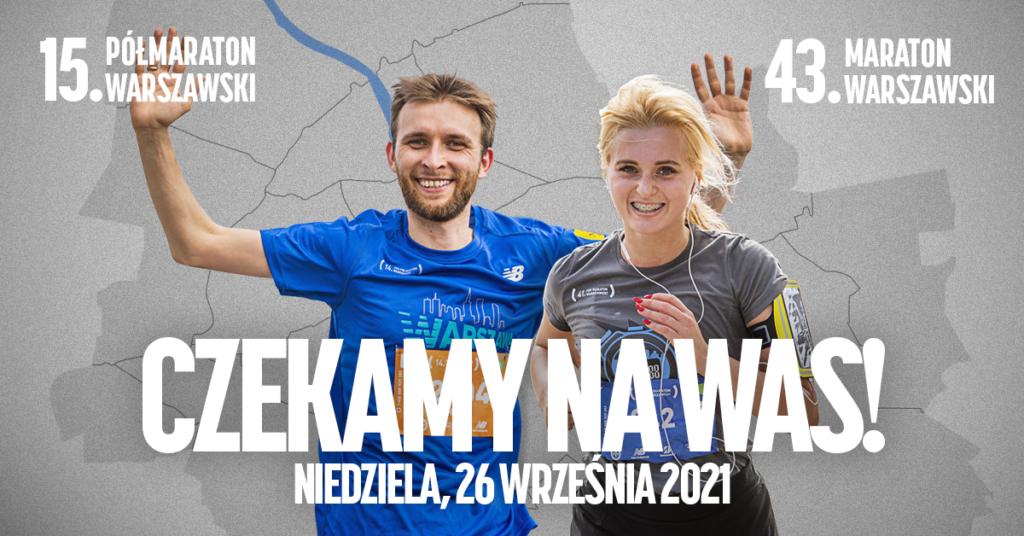 15. Półmaraton Warszawski i 43. Maraton Warszawski odbędą się już 26 września!