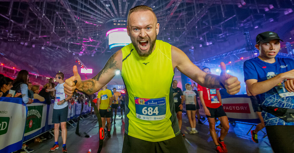 Finisz Cracovia Półmaratonu Królewskiego zlokalizowany w TAURON Arenie