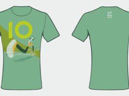 Damska koszulka 10. Półmaratonu Dwóch Mostów