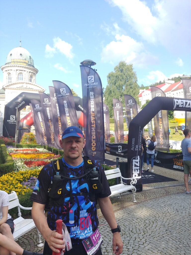 Gotowy do biegu Tomasz Hacus.