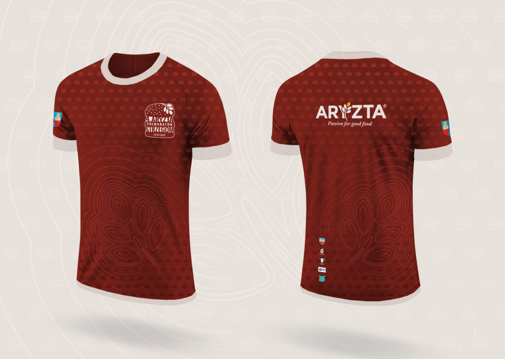 Koszulka 4. ARYZTA Półmaraton Strzegom.