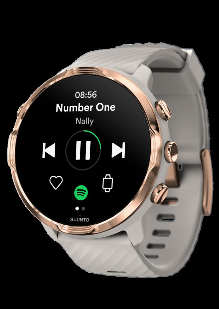 Korzystaj offline z aplikacji Spotify w zegarkach Suunto 7.