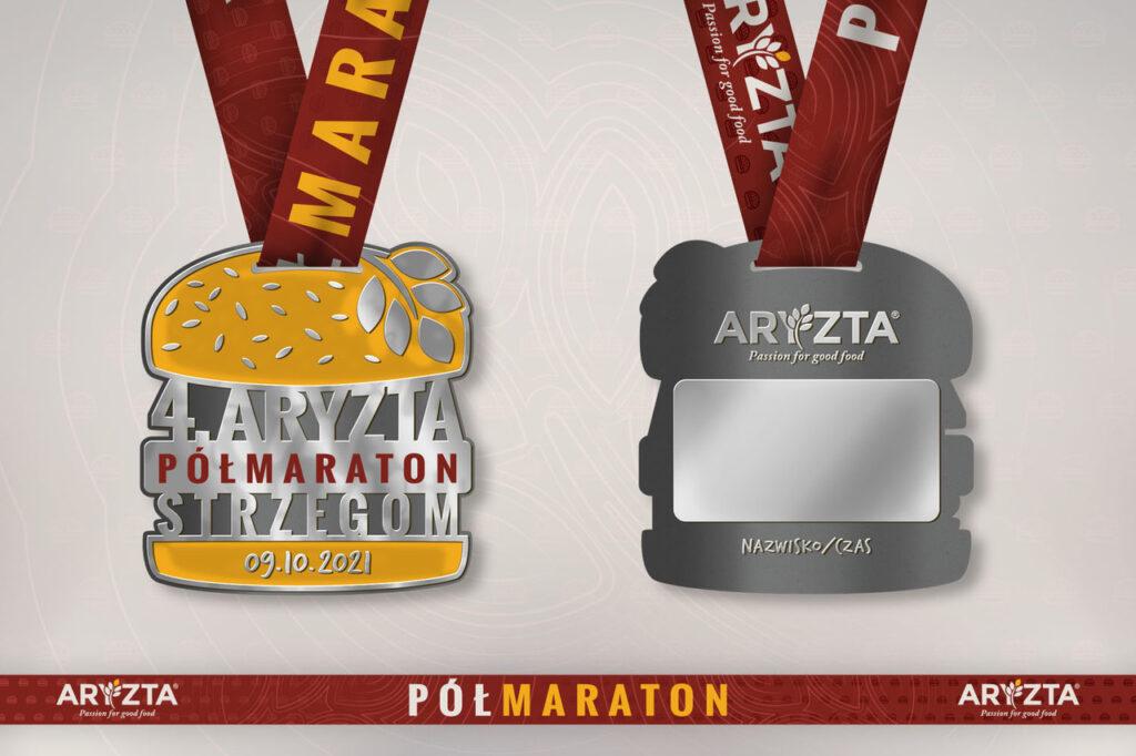 Medal 4. ARYZTA Półmaraton Strzegom.